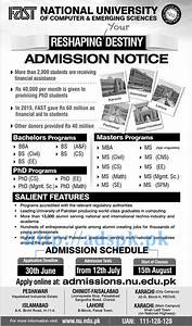 New Admissions Open 2016 FAST National University for ...