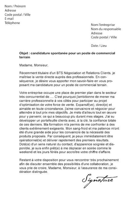 lettre de motivation commercial terrain mod 232 le de lettre