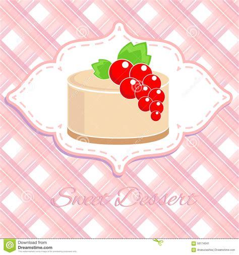 label doux de dessert avec la groseille illustration de vecteur image 58174041