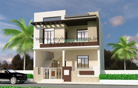 Front Elevation Design Modern Duplex  Front Elevation