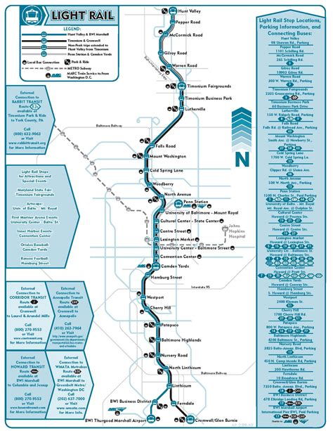 baltimore light rail stops light rail maryland transit administration