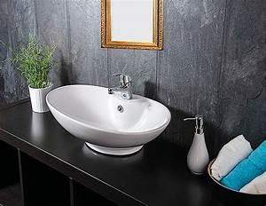 Bemalte Keramik Waschbecken : design keramik waschschale aufsatz waschbecken waschtisch ohne armatur ~ Markanthonyermac.com Haus und Dekorationen