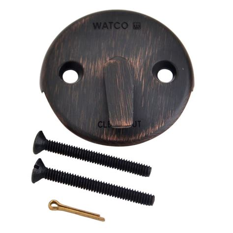watco trip lever bathtub overflow plate kit rubbed bronze 18702 bz the home depot