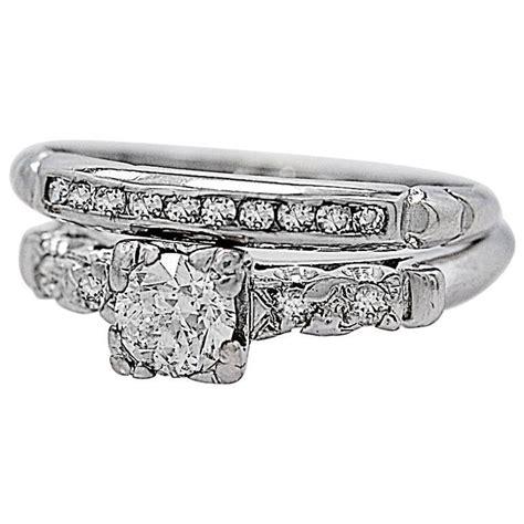 deco 35 carat platinum wedding ring set for sale at 1stdibs