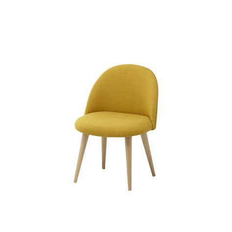 chaise vintage enfant en tissu et bouleau massif jaune mauricette maisons du monde