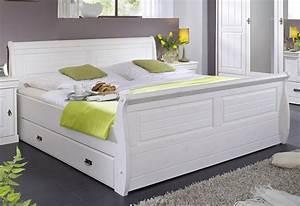 Tagesbett Holz Weiß : massivholz bett 180x200 holzbett mit bettkasten kiefer massiv wei ~ Markanthonyermac.com Haus und Dekorationen