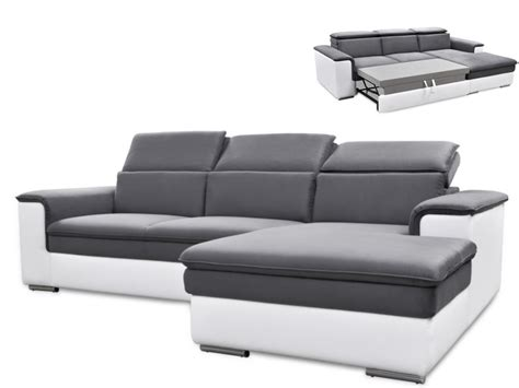 canap 233 d angle convertible connor avec t 234 ti 232 res relax 3 coloris bicolore
