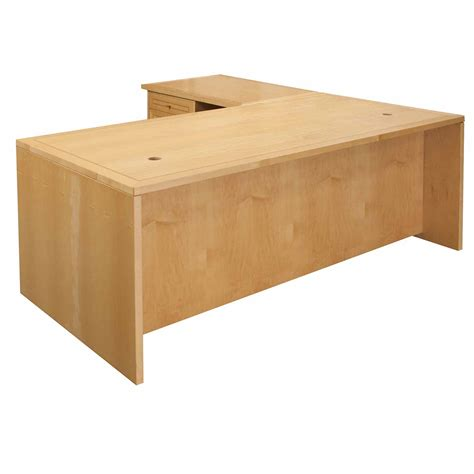 jesper used left return 34 215 71 l shape desk maple national office interiors and liquidators