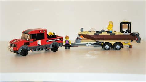 Toy Lego Boat by Custom Lego Boat Trailer Youtube