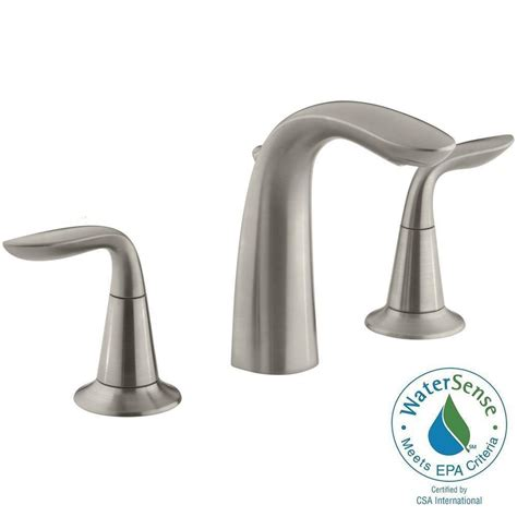 kohler refinia 8 in widespread 2 handle bathroom sink faucet in brushed nickel k 5317 4 bn