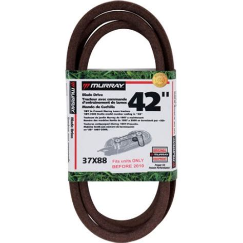 murray 42 inch cut mower blade drive belt 1989 to 2010 walmart