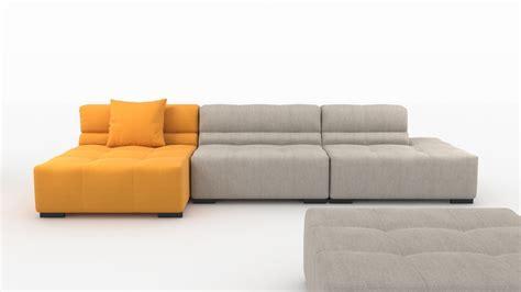 tufty time sofa by bb italia 3d model max obj 3ds fbx mtl