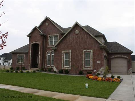 Brick Home Exterior, Red Brick Home Exterior View Brick