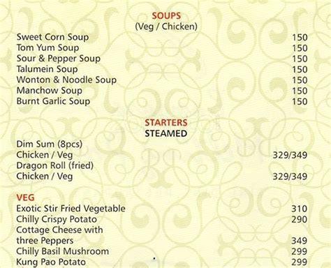banjara melting pot menu menu for banjara melting pot cunningham road bangalore zomato