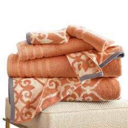 pacific coast textiles lattice yarn dyed 6 pc bath towel