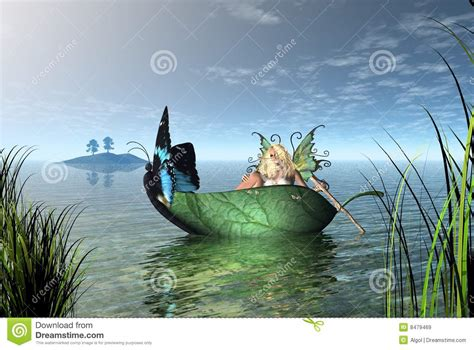 Fairy On Boat by Fairy Butterfly Boat Stock Illustration Image Of