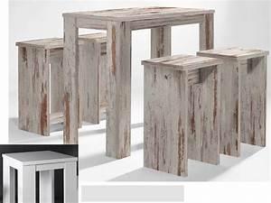 Stehtisch Mit Hocker : bartisch set 5 teilig 1 tisch und 4 hocker wei matt sale m bel m bel tische b nke st hle ~ Markanthonyermac.com Haus und Dekorationen