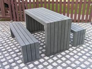 Parkbank Mit Tisch : kunststoff tisch friko ~ Markanthonyermac.com Haus und Dekorationen