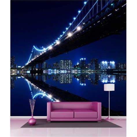 papier peint g 233 ant d 233 co pont de new york la nuit 250x250cm d 233 co stickers