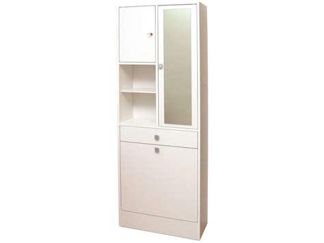 armoire salle de bain avec bac 224 linge et miroir wave coloris blanc vente de armoire colonne