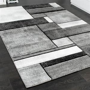 Türkische Teppiche Modern : designer teppich kariert wohnzimmer teppich modern trendig meliert in grau wohn und ~ Markanthonyermac.com Haus und Dekorationen