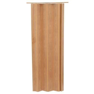 accordion doors home depot spectrum 36 in x 80 in encore vinyl oak accordion door