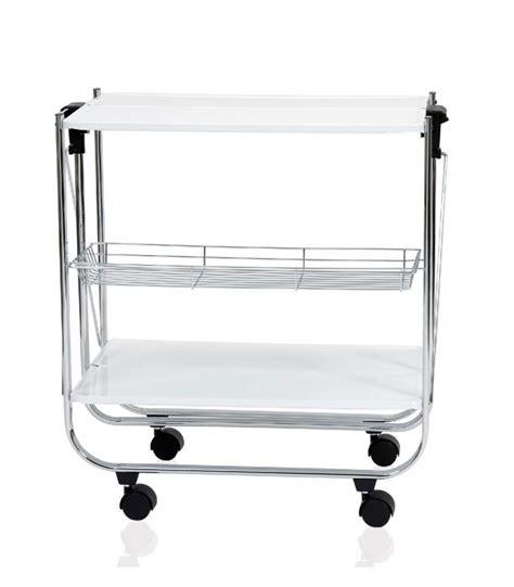 table roulante rectangulaire pliable inox et blanc laqu 233 andrea house wadiga