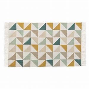 Matratze 60 X 100 : teppich mit dreieckmuster aus baumwolle 60 x 100 cm gaston maisons du monde ~ Markanthonyermac.com Haus und Dekorationen