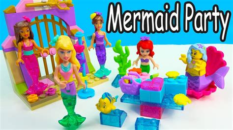 Barbie Boat Lego by Barbie Mermaid Party At Disney S Ariel House Lego Mega