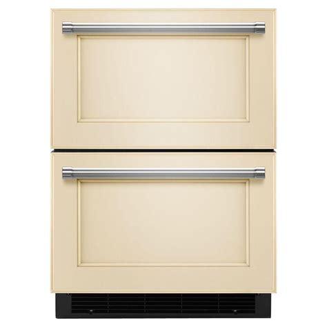 kitchenaid tiroir r 233 frig 233 rateur cong 233 lateur de 24 po pr 234 t 224 accueillir le panneau de