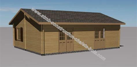 chalet en bois habitable toulon de 49 m2 en madriers massifs