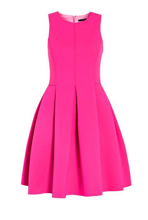 Sleeveless Dress by Tibi Sleeveless Neoprene Scuba Dress In Pink Lyst