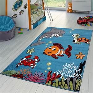Teppich Kinderzimmer Grau : kinderzimmer teppich unterwasserwelt kurzflor in t rkis grau gr n pink blau kinderteppich ~ Markanthonyermac.com Haus und Dekorationen