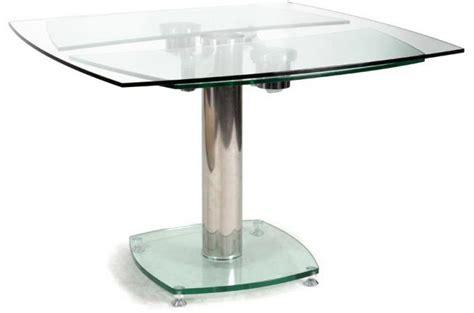 table carr 233 e avec allonges plateau verre transparent table 224 manger pas cher
