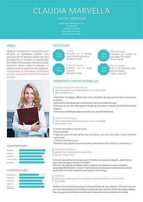 25 best ideas about modele de cv moderne on curriculum vitae curiculum vitae and