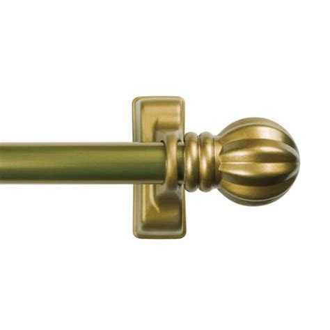 kenney chestnut magnetic window curtain rod 16 to 28 inch