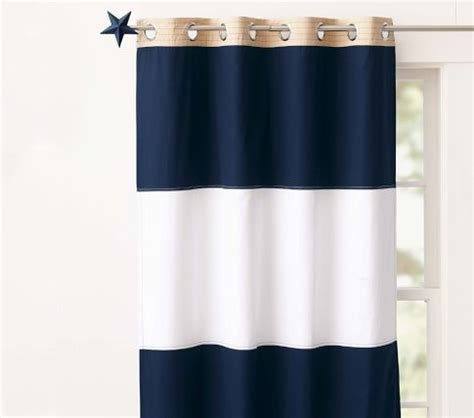 Navy And White Striped Curtains Blackout by Bold Navy White Stripe Curtains Decorating
