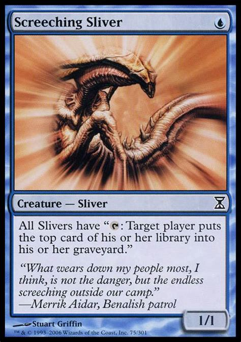 Mtg Sliver Deck Tapped Out by Screeching Sliver Mtg Card