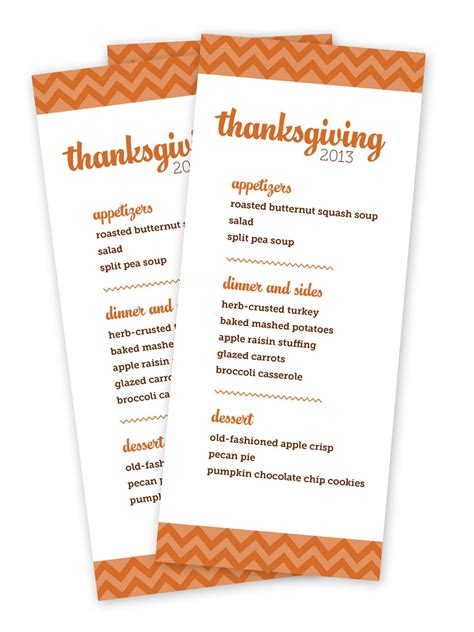 Thanksgivng Dinner Pages Template printable thanksgiving menu templates for free happy
