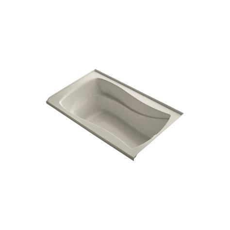 45 ft drop in bathtub kohler mariposa 5 ft rectangular drop in right drain