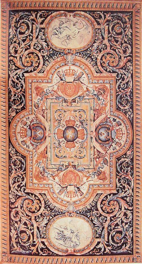 file tapis de savonnerie louis xiv apres charles le brun pour la grande galerie du louvre jpg