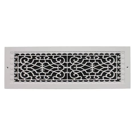 smi ventilation products wall mount 6 in x 22 in polymer resin decorative cold air