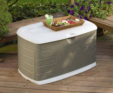 rubbermaid 5f21 deck box with seat deck boxes patio
