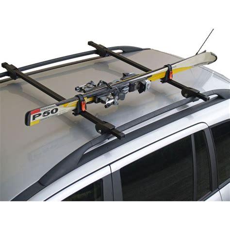 2 porte skis sur barres de toit skirack feu vert