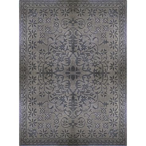 8x10 area rugs home depot lanart rug charcoal vintage 8 ft x 10 ft area rug the