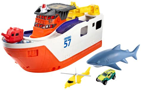 Toy Ships And Boats by Matchbox Mission Marine Rescue Shark Ship Ebay