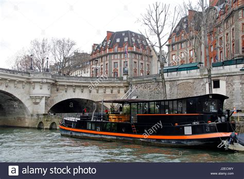 Houseboats Paris by Houseboat On Seine River Paris Stock Photos Houseboat On