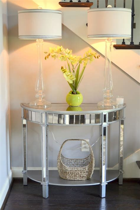 Pier One Mirrored Sofa Table by Foyer Decor Using Pier 1 Glass Candlestick Ls