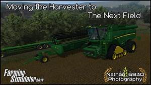 Farming simulator 2013 Moving the Combine - YouTube