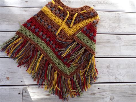 Fall Colors Poncho-multi Color By Jac'sinspiration On Zibbet